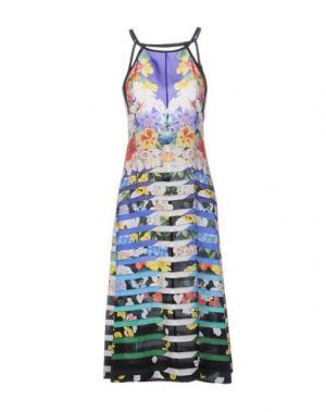 Платье длиной 3/4 MARY KATRANTZOU. Цвет: фиолетовый