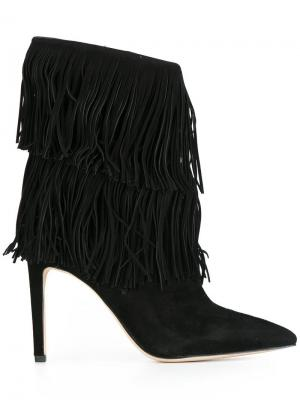 Ботинки с бахромой Sam Edelman. Цвет: чёрный