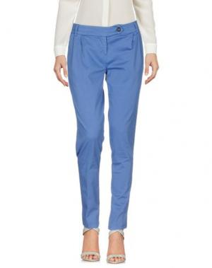Повседневные брюки ANOTHER LABEL. Цвет: грифельно-синий