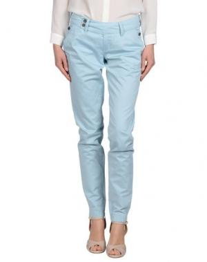 Повседневные брюки TIMEOUT. Цвет: небесно-голубой