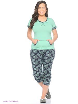 Женская пижама NICOLETTA. Цвет: зеленый