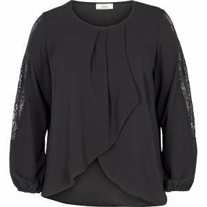 Блузка ZIZZI. Цвет: темно-зеленый,черный