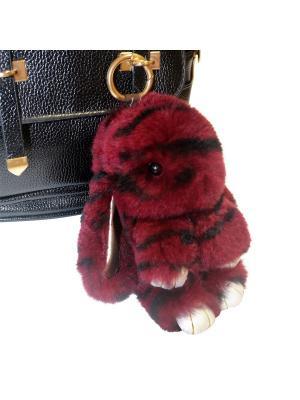 Кролик-брелок GOOD MOOD коллекция: LUX. Цвет: бордовый
