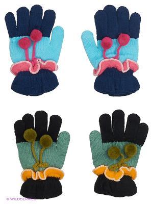 Перчатки FOMAS. Цвет: зеленый, голубой, розовый, черный