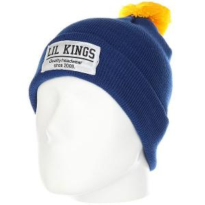 Шапка  Pon-pon Contrast Blue Lil Kings. Цвет: синий,желтый