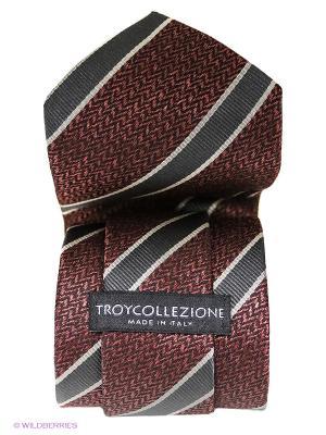 Галстук Troy collezione. Цвет: бордовый, темно-серый