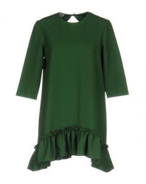 Короткое платье PINK BOW. Цвет: зеленый