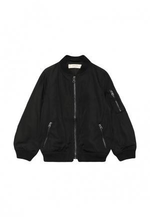 Куртка Mango Kids. Цвет: черный
