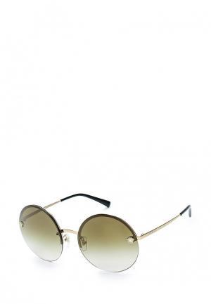 Очки солнцезащитные Versace. Цвет: золотой