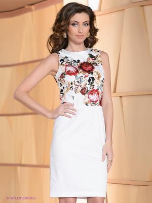 Платье La Reine Blanche. Цвет: белый, красный