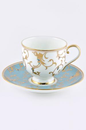 Набор кофейных пар 100 мл, 6шт Narumi. Цвет: голубой, золотой