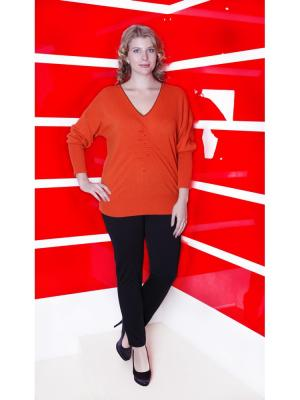 Пуловер Maria Grazia Severi. Цвет: оранжевый