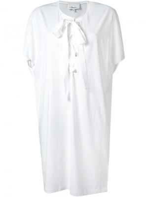 Платье-шифт со шнуровкой 3.1 Phillip Lim. Цвет: белый