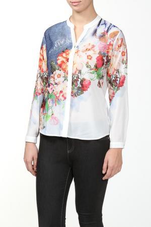 Блуза Grandi. Цвет: белый, розовый