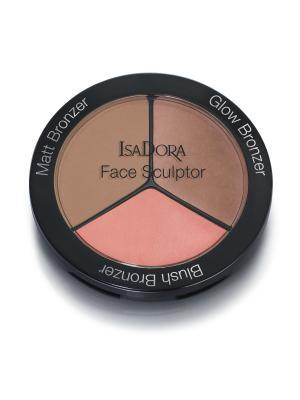 Многофункциональное средство для макияжа лица Face Sculptor 10 18гр ISADORA. Цвет: коричневый, золотистый