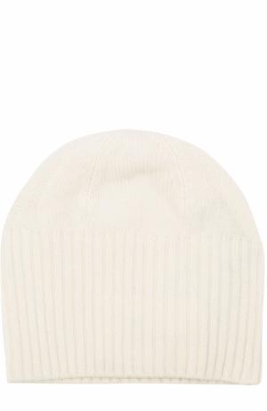 Кашемировая шапка бини Allude. Цвет: белый