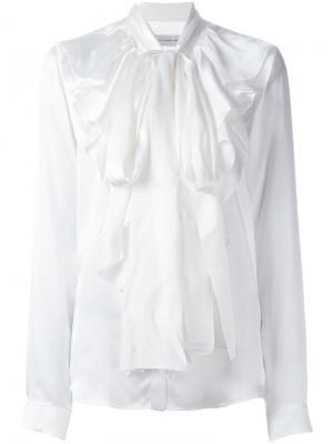 Блузка с завязками на бант Faith Connexion. Цвет: белый