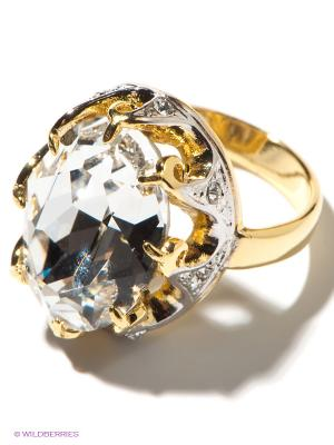 Кольцо Jenavi. Цвет: прозрачный, золотистый