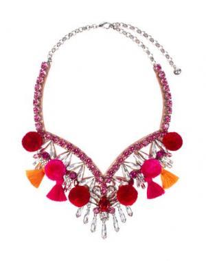 Ожерелье SHOUROUK. Цвет: фуксия