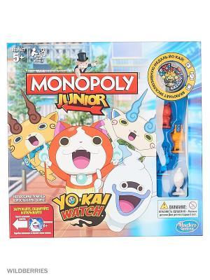 Монополия Hasbro Games Джуниор. Цвет: красный, оранжевый, голубой