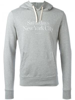 Ditch Miller Standard Hooded Sweatshirt Saturdays Nyc. Цвет: серый