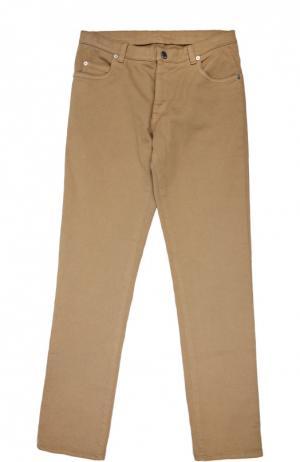 Хлопковые джинсы прямого кроя Loro Piana. Цвет: бежевый