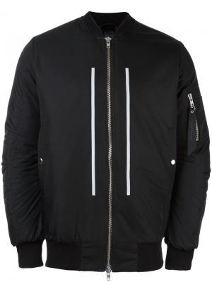 Куртка бомбер Silent Odeur. Цвет: чёрный