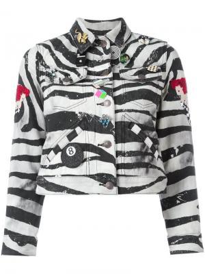 Куртка с зебровым принтом Marc Jacobs. Цвет: чёрный