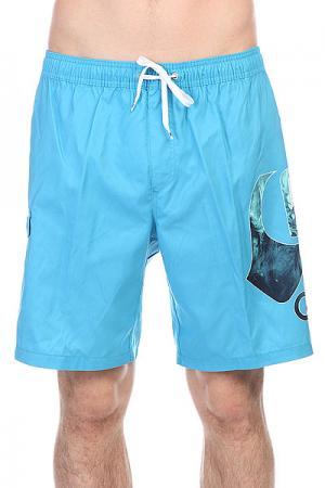 Шорты пляжные  Logo Vl 19 Jamv Volley Hawaiian Quiksilver. Цвет: голубой