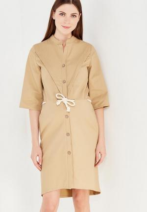 Платье MilkyMama. Цвет: бежевый