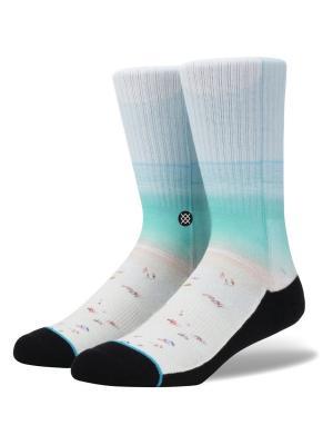 Носки BLUE FOUNDATION TILT (SS16) Stance. Цвет: светло-голубой,белый