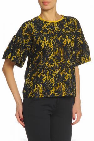 Блуза ZHOR&NEMA. Цвет: синий, желтый