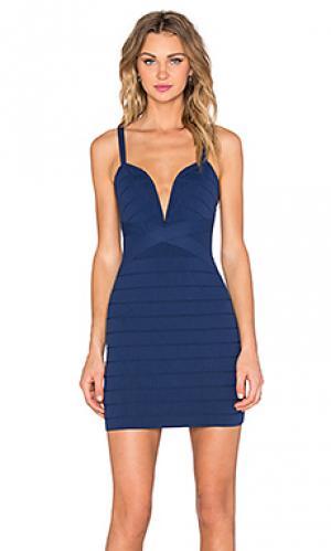 Обтягивающее платье baby im yours NBD. Цвет: синий