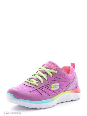 Кроссовки SKECHERS. Цвет: фиолетовый, розовый