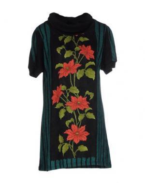 Короткое платье MINA. Цвет: черный
