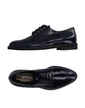 Обувь на шнурках V ITALIA. Цвет: темно-синий