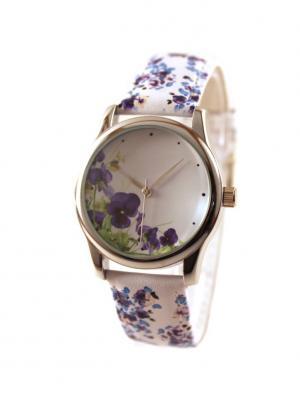 Дизайнерские часы Анютины Глазки Tina Bolotina. Цвет: синий, зеленый, белый