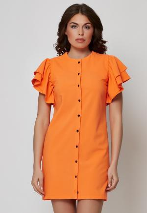 Платье Alex Lu. Цвет: оранжевый