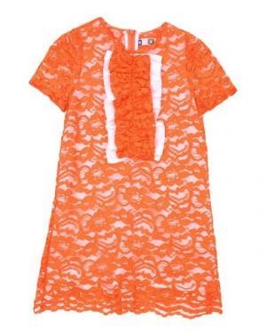 Платье MSGM. Цвет: оранжевый