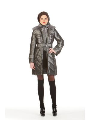 Пуховое пальто BCVS makelove. Цвет: серебристый