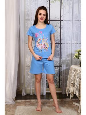 Пижама Символ года Vilana. Цвет: голубой