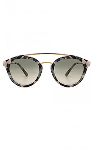 Солнцезащитные очки double bridge WESTWARD LEANING. Цвет: коричневый