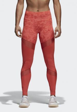Леггинсы adidas. Цвет: красный
