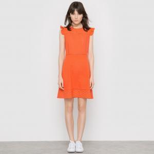 Платье с английской вышивкой, MADEMOISELLE R. Цвет: белый