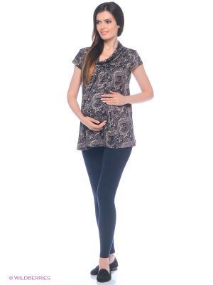 Леггинсы с начесом для беременных 40 недель. Цвет: темно-синий
