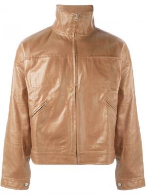 Джинсовая куртка с приспущенными плечами Telfar. Цвет: коричневый
