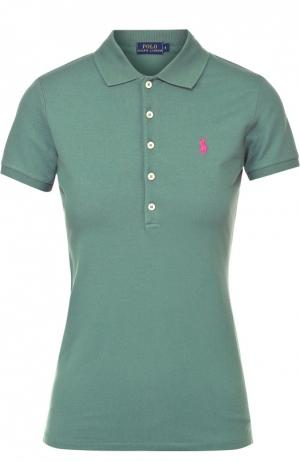 Поло с вышитым логотипом бренда Polo Ralph Lauren. Цвет: хаки