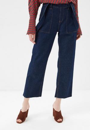 Комбинезон джинсовый H:Connect. Цвет: синий