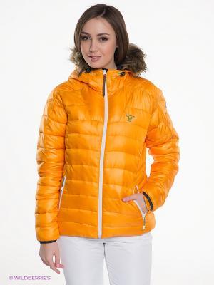 Куртка Tenson. Цвет: светло-оранжевый