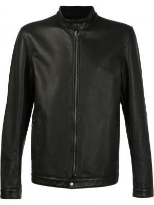 Куртка с воротником-стойкой Salvatore Santoro. Цвет: чёрный
